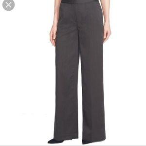 NWT Gray Wide Leg High Rise Dress Pants